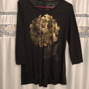 SALE! NWOT dark gray Lucky Brand with gold design